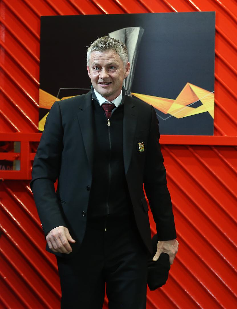 Ole Gunnar Solskjaer arrives at Old Trafford