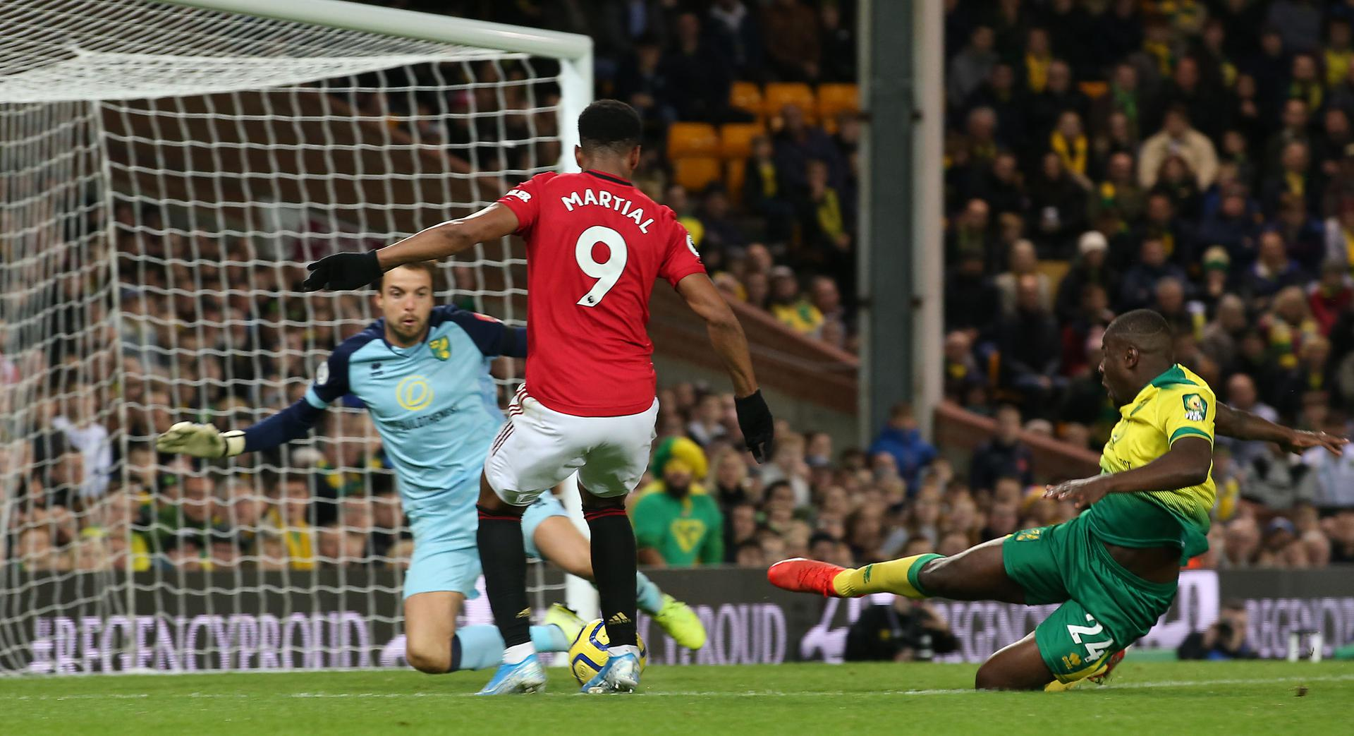 Anthony Martial scores the third goal.