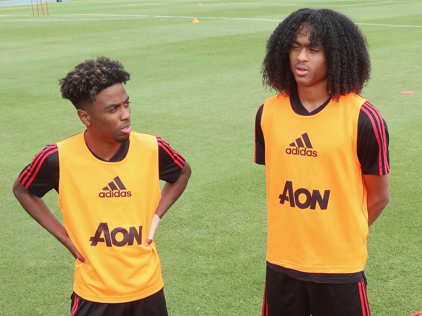 Angel Gomes and Tahith Chong.