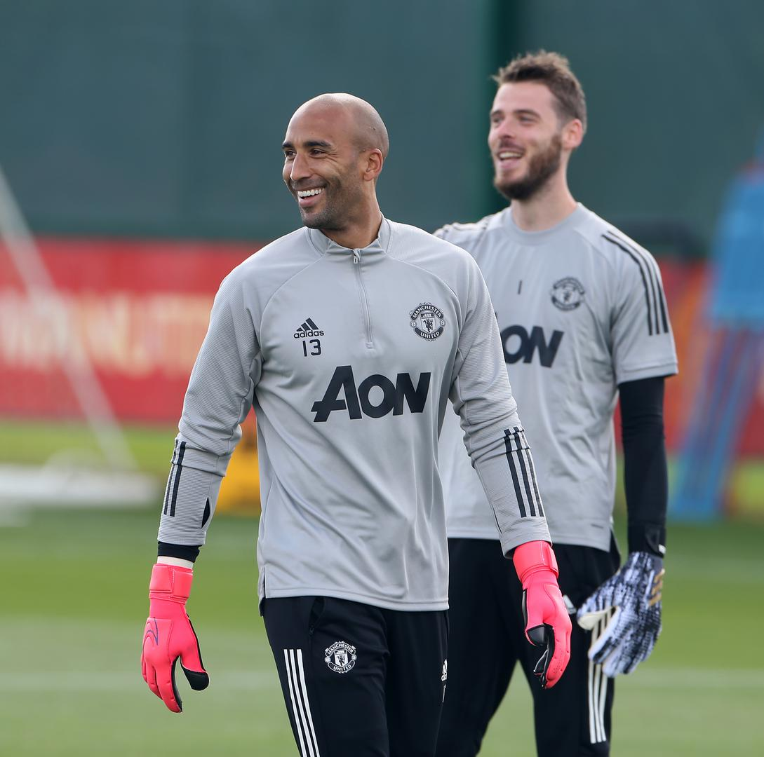 Lee Grant and David De Gea.