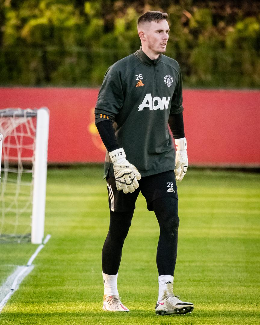 Dean Henderson during Manchester United training.