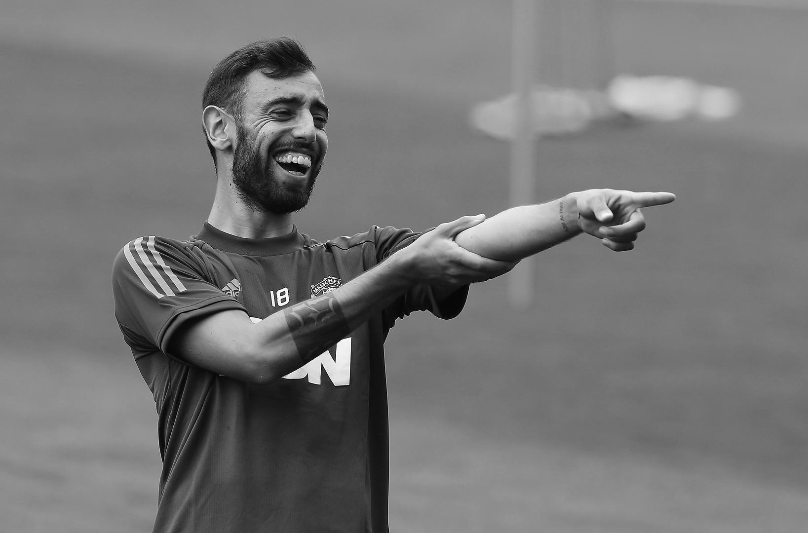 Bruno Fernandes in training