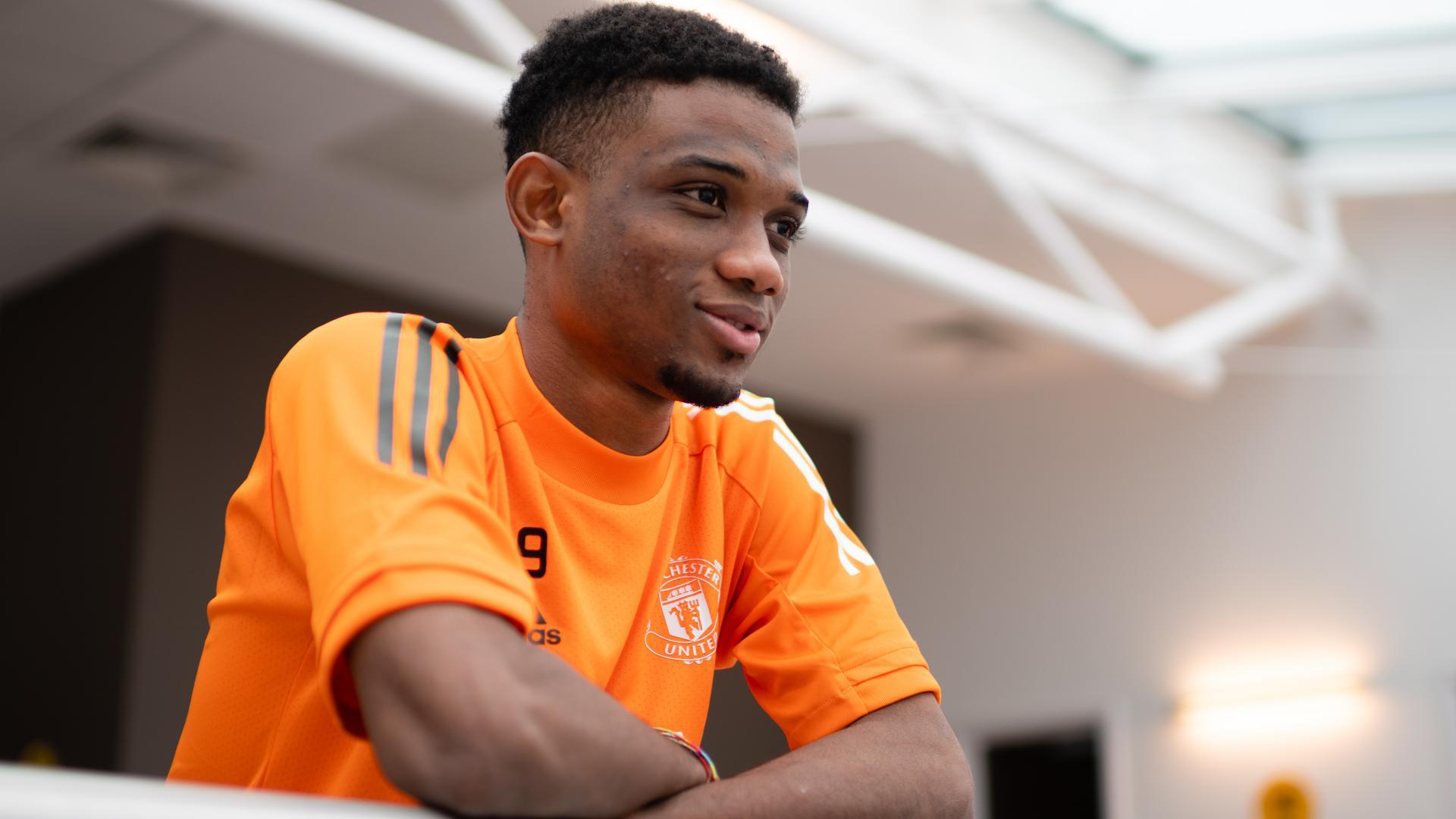 Primer día de Amad Diallo en Carrington   Web oficial del Manchester United