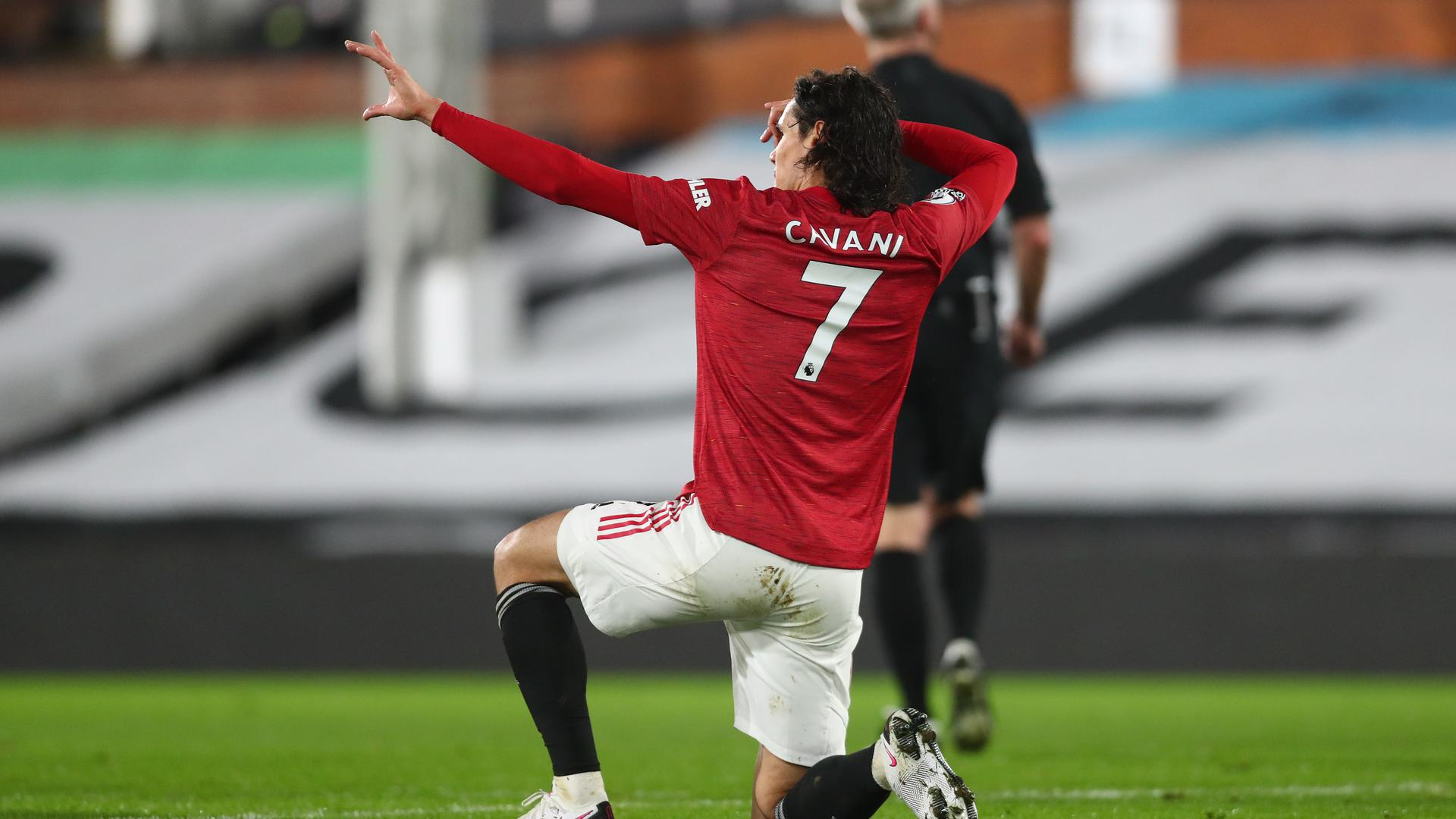 ¿De dónde viene el festejo de Cavani?   Web oficial del Manchester United