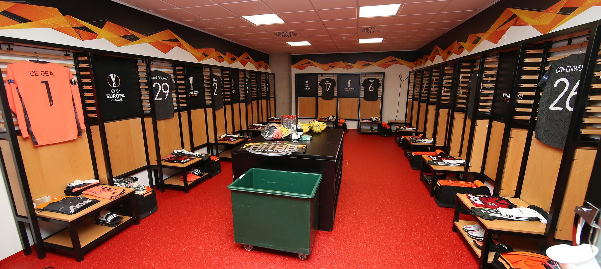 Dressing Room Images Ahead Of Man Utd V Sevilla 16 August 2020 Manchester United