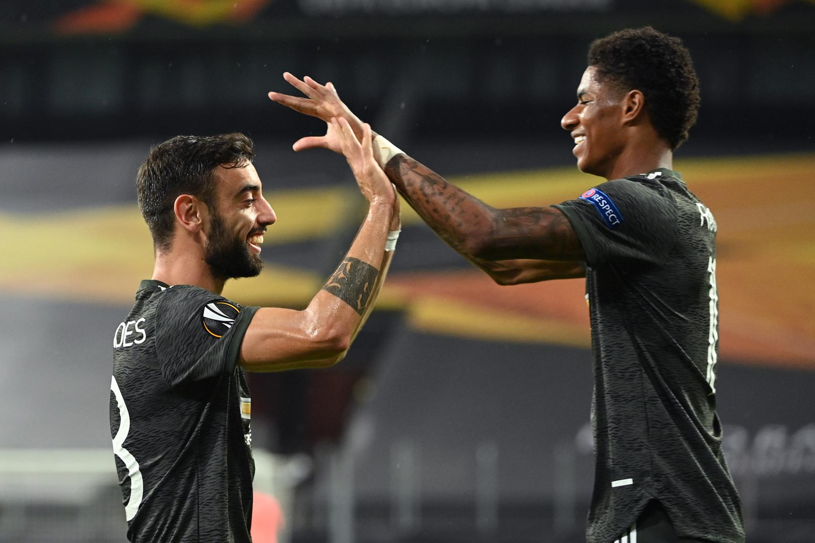 Bruno Fernandes and Marcus Rashford