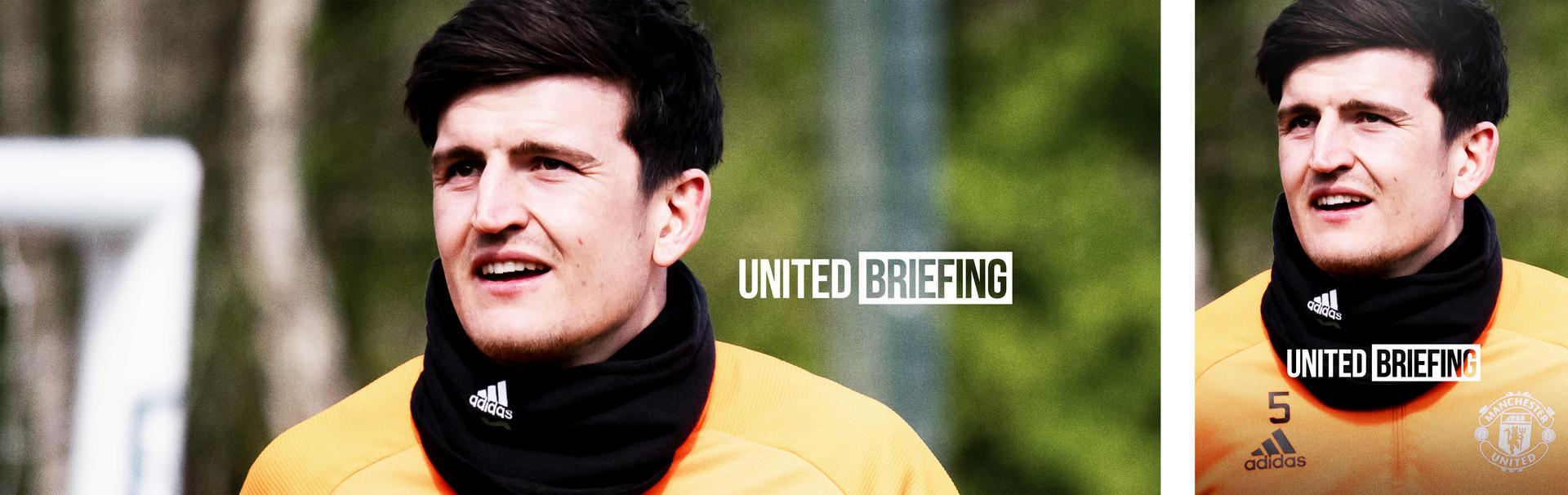 United Briefing title image featuring Harry Maguire