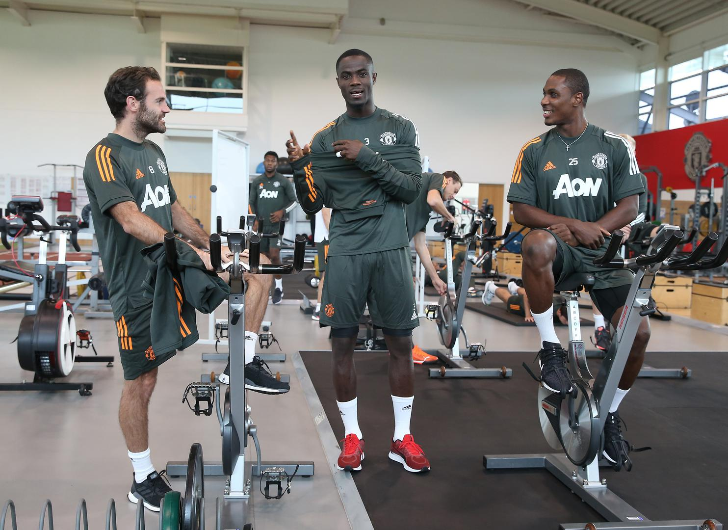 Eric Bailly at the Aon Training Complex.,