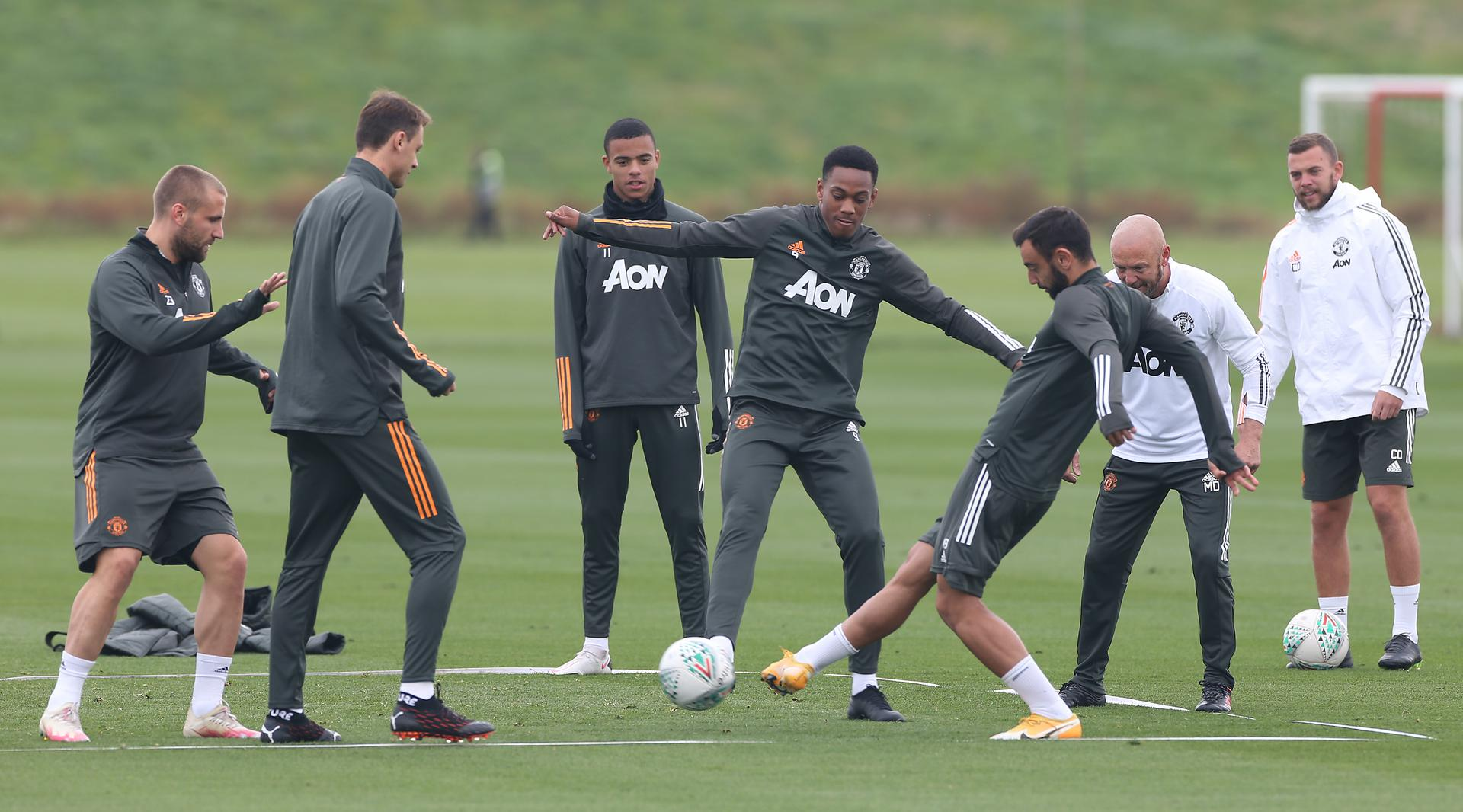 United in training.