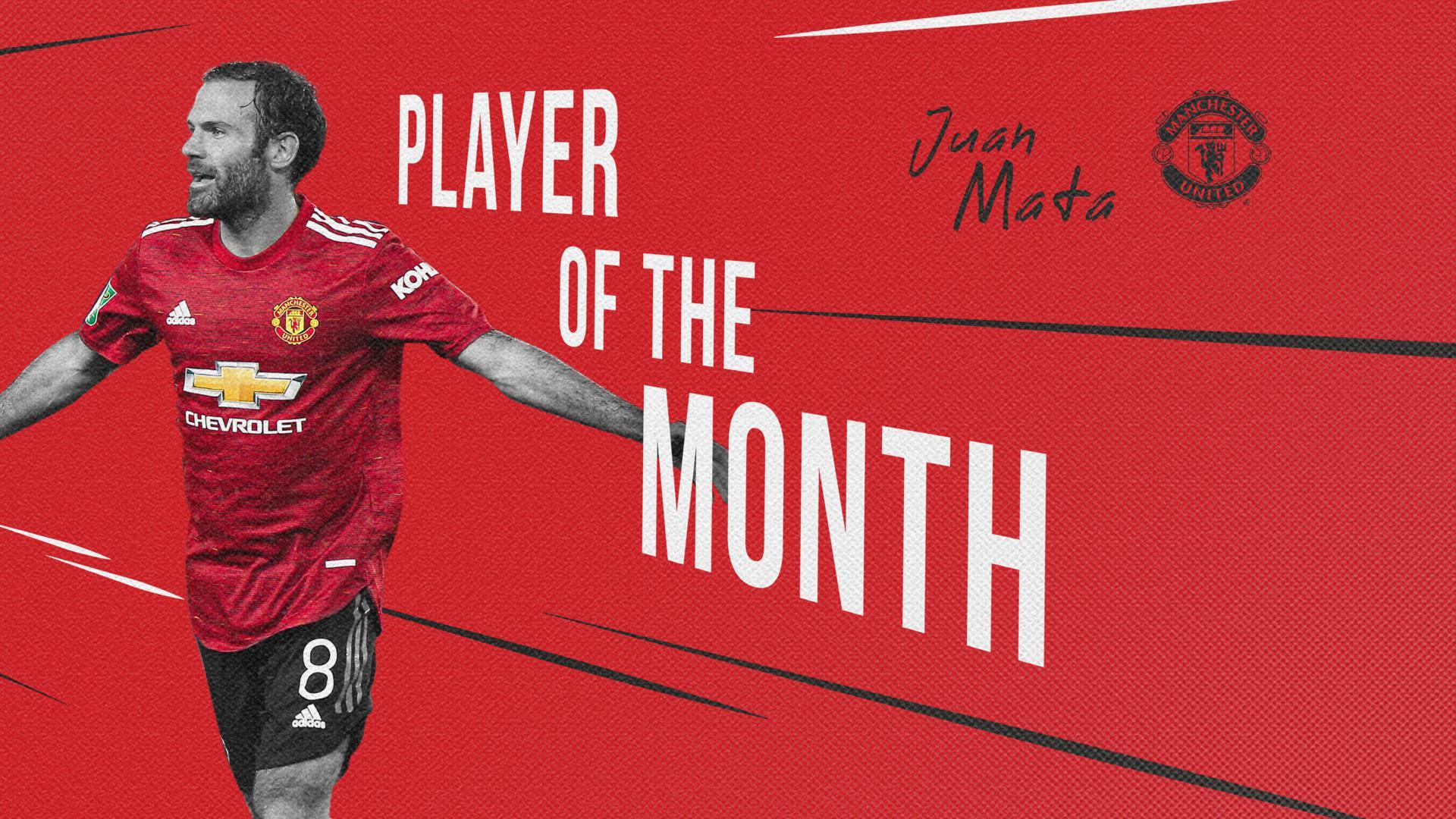 Juan Mata voted Man Utd Player of the Month winner for