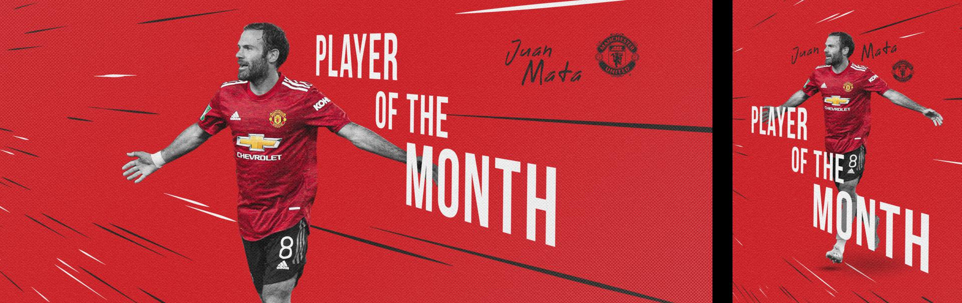 Juan Mata Player of the Month graphic.