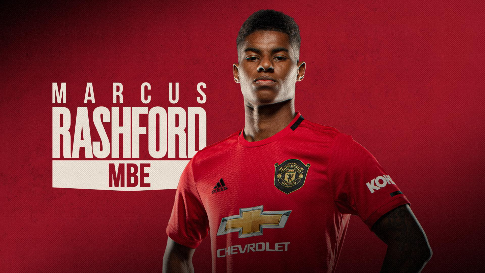 Marcus Rashford reacts to being awarded an MBE | Manchester United