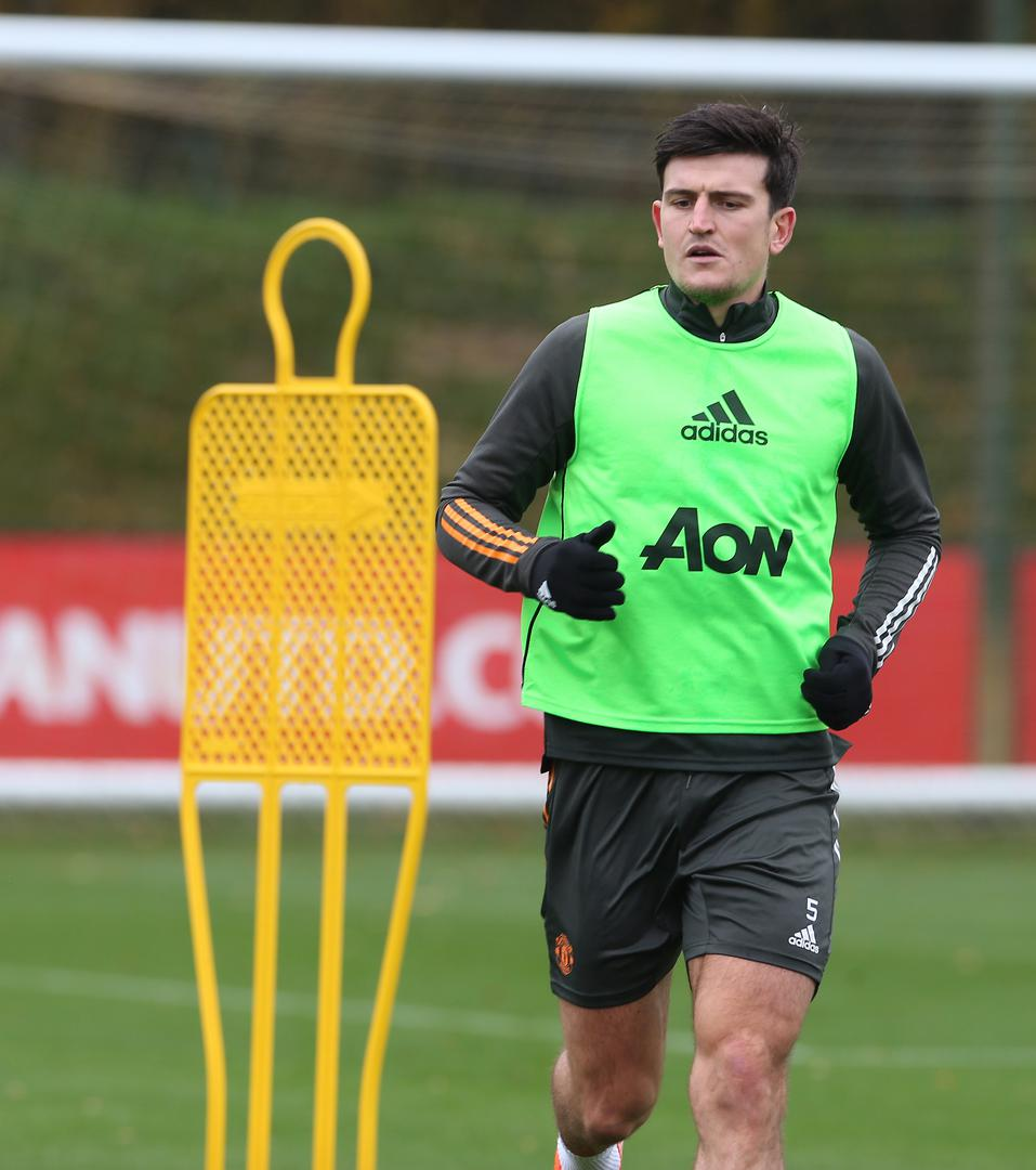 Harry Maguire in training.,