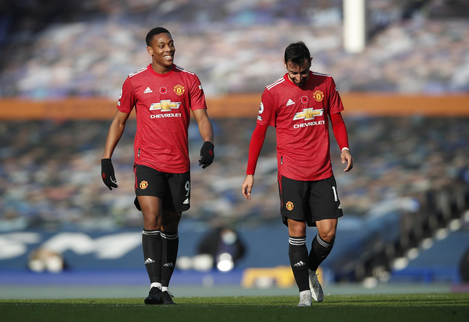 Anthony Martial and Bruno Fernandes