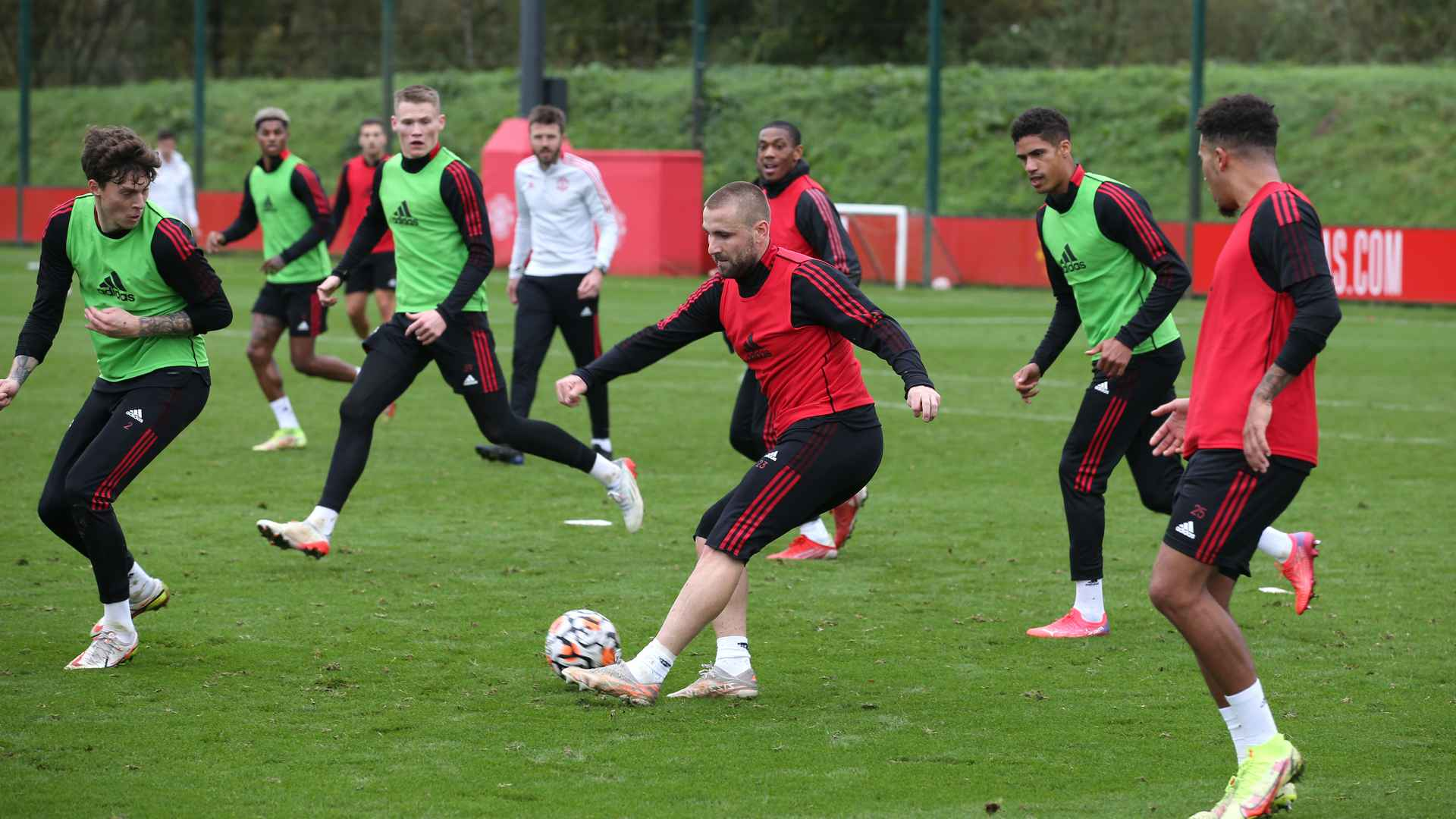 Training at Carrington pictures 27 October 2021