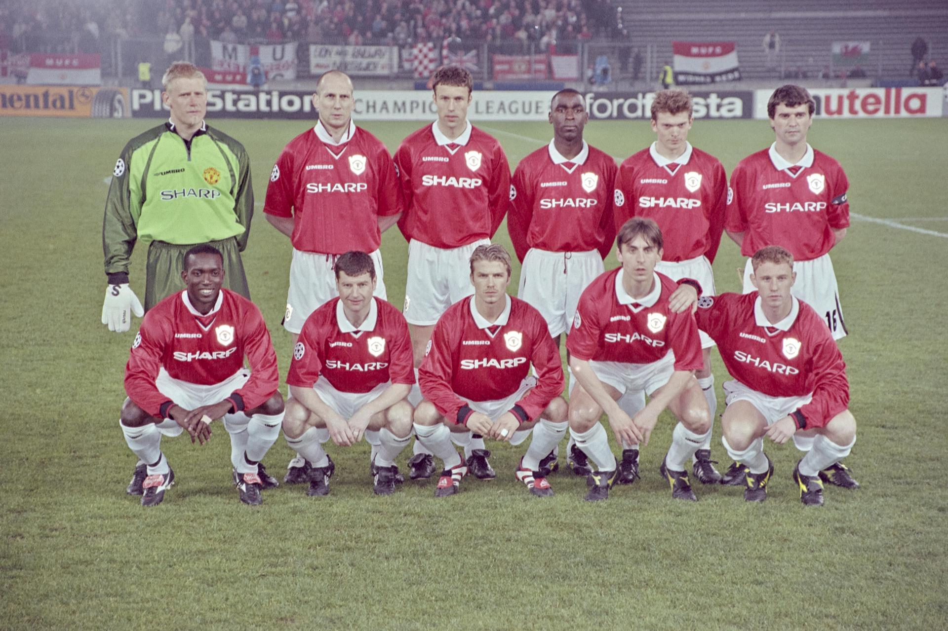 The United line-up before facing Juventus in 1999.