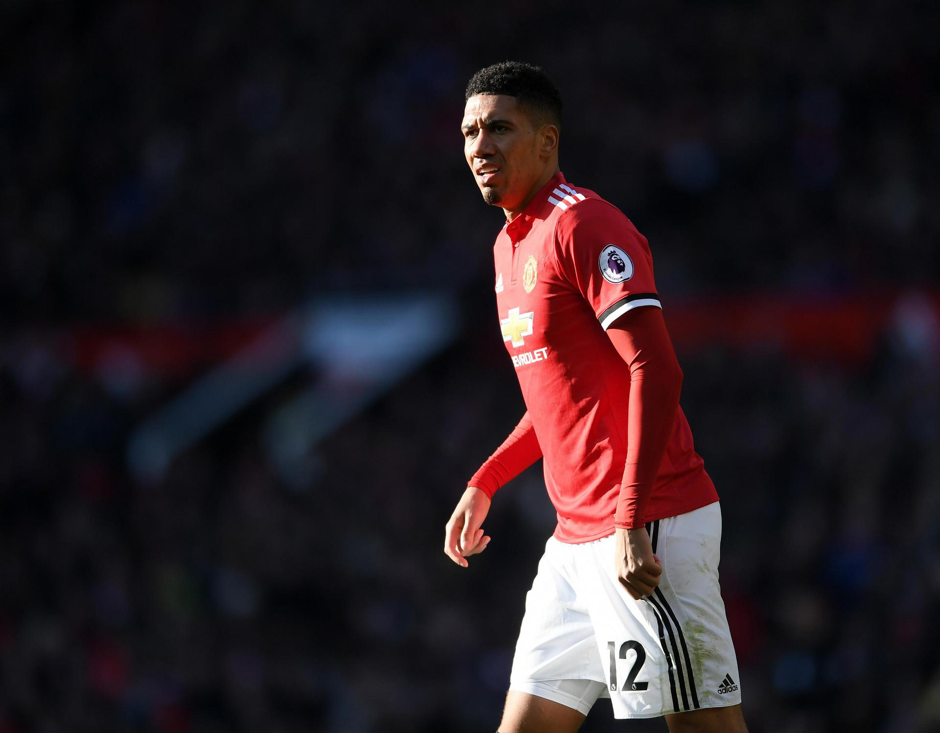 Chris Smalling en acción